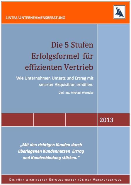 E-Book 5 Stufen Erfolgsformel für effizienten Vertrieb